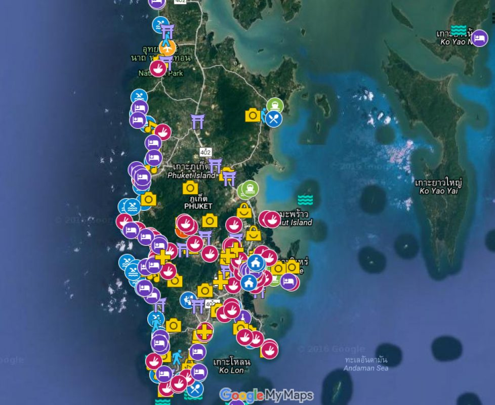 Phuketi kaart